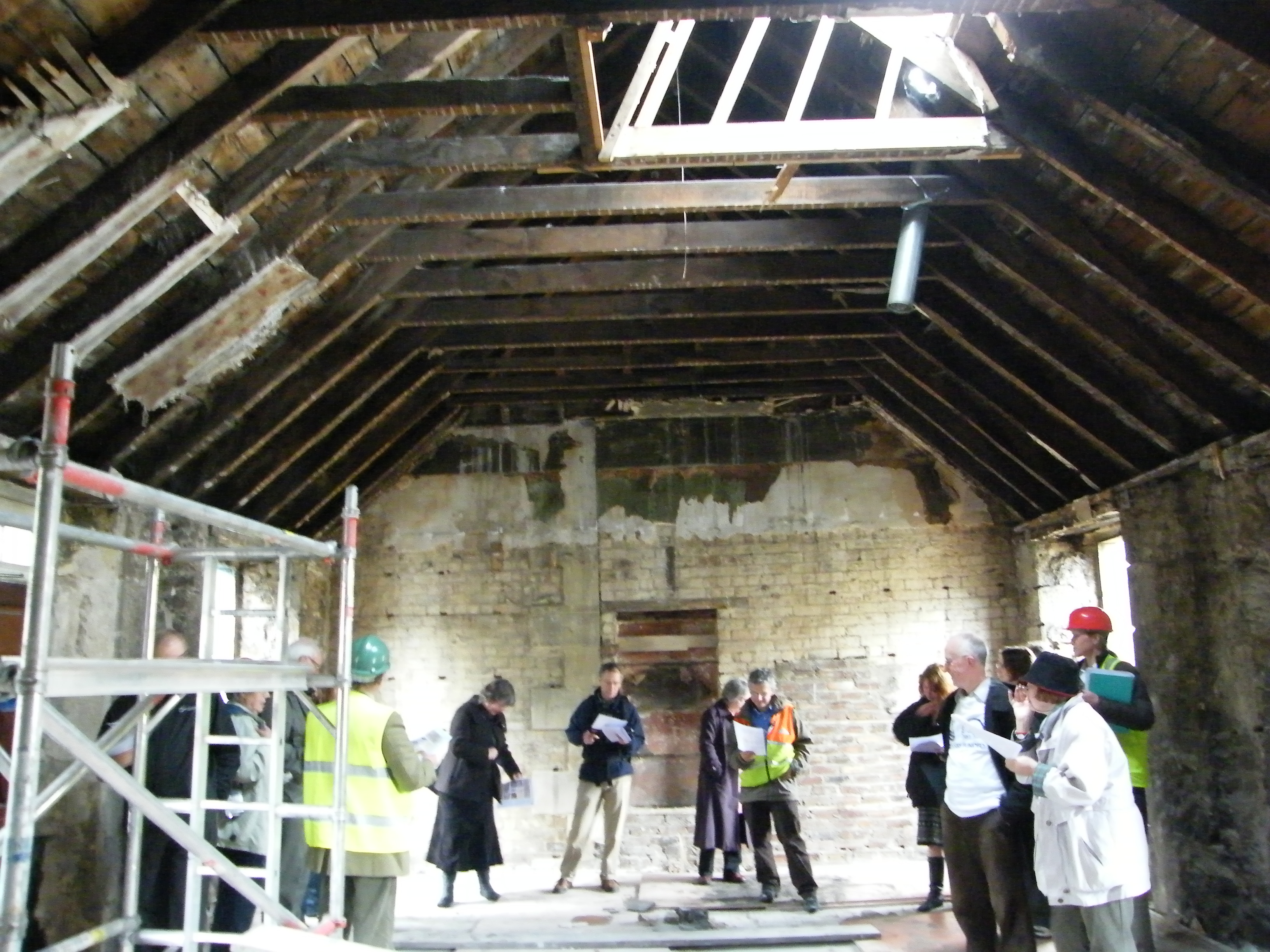Botanic Cottage - Lecture Rm before demolition - copyright S&B